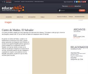 Centro de Madres. El Salvador (Educarchile)