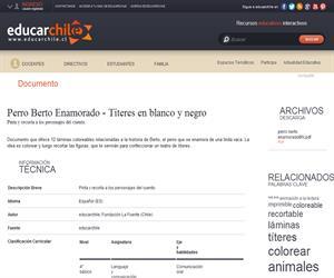 Perro Berto Enamorado - Títeres en blanco y negro (Educarchile)