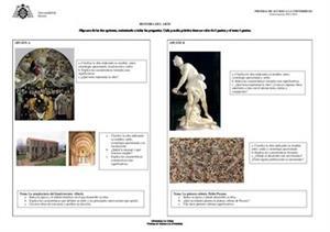 Examen de Selectividad: Historia del arte. Asturias. Convocatoria Junio 2014