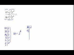 Simplificación de una fracción y potencias