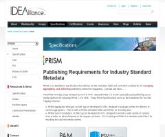 Publishing Requirements for Industry Standard Metadata
