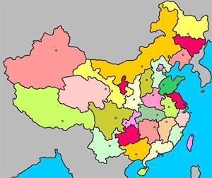 Mapa interactivo de China: división política y capitales (luventicus.org)