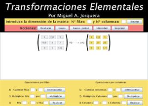 Transformaciones Elementales de matrices de números racionales
