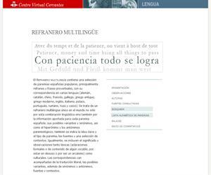 Refranero multilingüe. Centro Virtual Cervantes