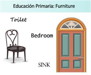 Furniture. Ficha de actividades sobre los muebles de la casa