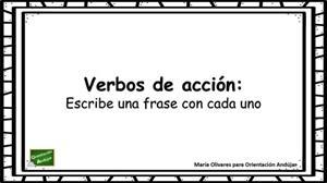 Verbos de acción: escribe una oración a partir de dibujos