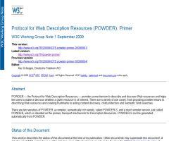 POWDER: Un protocolo para describir Recursos en la Web