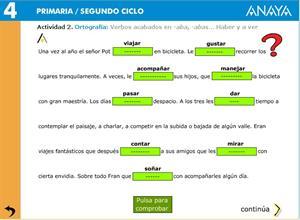Ortografía: Verbos acabados en -aba, -abas… Haber y a ver. Editorial Anaya