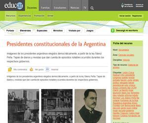 Presidentes constitucionales de la Argentina