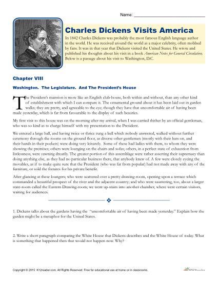 Charles Dickens Visits America