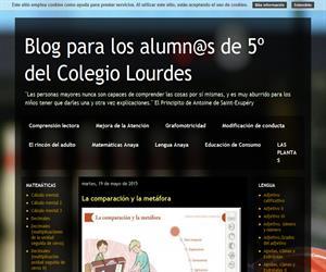Blog para los alumnos de 5º de Primaria del colegio Lourdes (Blog Educativo de Educación Infantil)