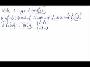 Raíz cuadrada de un número complejo (sin fórmula)