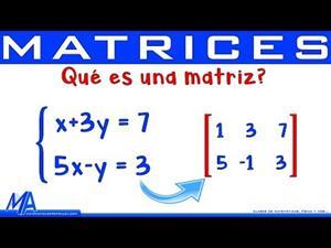 Qué es una matriz. Sistemas de ecuaciones.