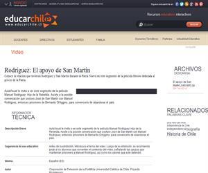 Rodríguez: El apoyo de San Martín (Educarchile)