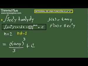 Integral de una función a la n. Ejercicio 11 de 15 (Tareas Plus)