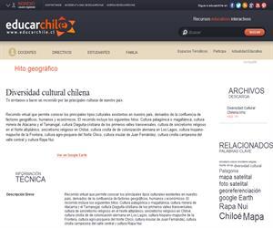 Diversidad cultural chilena (Educarchile)