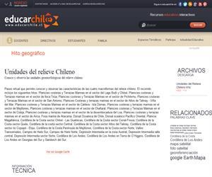 Unidades del relieve Chileno (Educarchile)