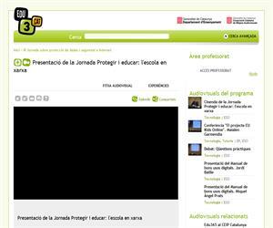 Presentació de la Jornada Protegir i educar: l'escola en xarxa (Edu3.cat)