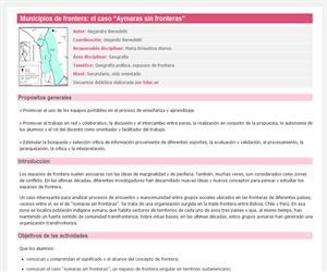 """Municipios de frontera: el caso """"Aymaras sin fronteras"""""""