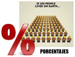 Porcentajes… Si 100 personas vivieran en la Tierra…