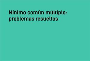 Mínimo común múltiplo | Problemas resueltos #YSTP