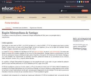 RM División política administrativa (Educarchile)