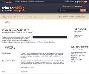 Cruce de Los Andes 1817 (Educarchile)
