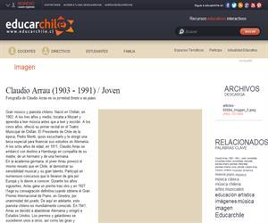 Claudio Arrau (1903 - 1991) / Joven (Educarchile)
