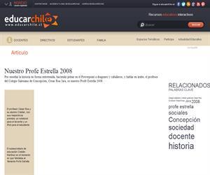 Nuestro Profe Estrella 2008 (Educarchile)