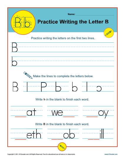 Practice Writing the Letter B