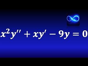 Ecuación diferencial de Cauchy Euler.