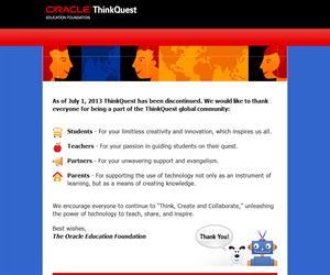 Recursos Educativos. Pensar Juntos. Think.com. ThinkQuest. Plataforma de aprendizaje para maestros y estudiantes.