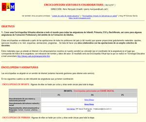 Enciclopedias Virtuales Colaborativas para Infantil, Primaria, ESO y Bachillerato