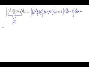 Integral de un producto de polinomios