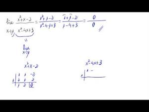 Límite de un cociente de polinomios