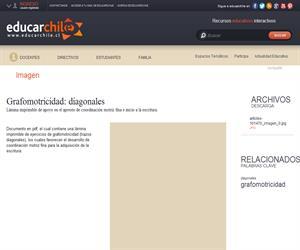 Grafomotricidad: diagonales (Educarchile)