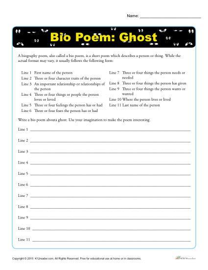 Bio Poem: Ghost