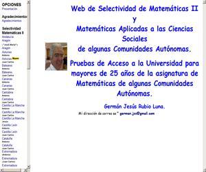 Ejercicios de Matemáticas resueltos de Selectividad (PAU)