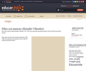 Niños con manicero (Reinaldo Villaseñor) (Educarchile)