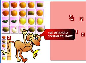 Juega y cuenta frutas (genmagic.org)