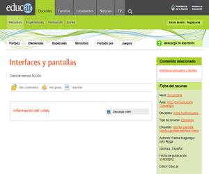 Interfaces y pantallas