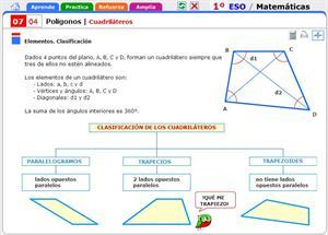 Cuadriláteros. Matemáticas para 1º de Secundaria