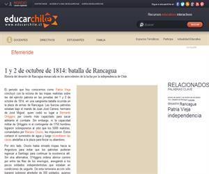 1 y 2 de octubre de 1814: batalla de Rancagua (Educarchile)