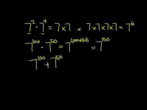 Reglas de Exponentes 1 (Khan Academy Español)