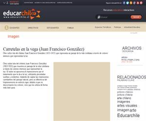 Carretelas en la vega (Juan Francisco González) (Educarchile)