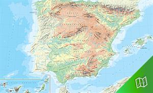 Mapa físico de España escala 1:1.125.000
