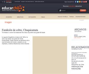 Fundición de cobre, Chuquicamata (Educarchile)