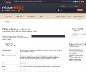 ESO en Santiago ? Vitacura (Educarchile)