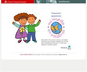 Mi mundo en palabras. Vocabulario en español (Centro Virtual Cervantes)