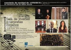 Asprodema-Rioja, Concierto de Navidad el día 22 en Riojaforum